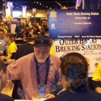 Brew Master Scott  pours beer at the great american beer  festival
