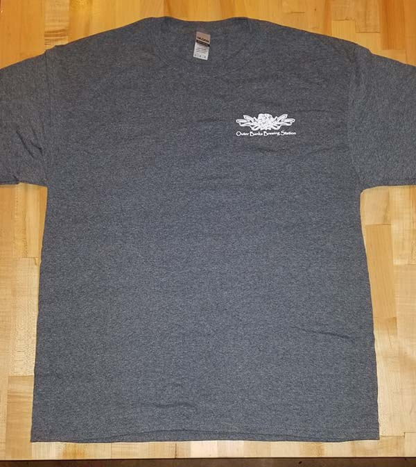 Outer banks brewing station Beer with Character Grey tshirt