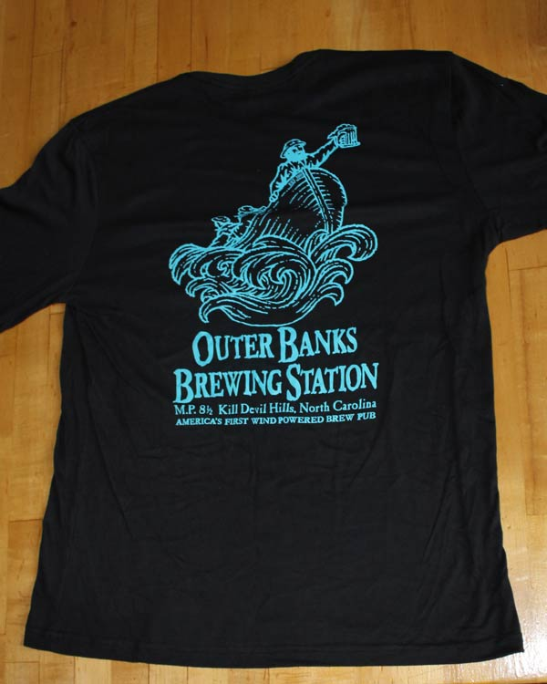 Outer Banks Brewing Station black long sleeve Outer Banks Beer Guy.